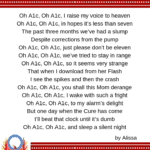 Oh A1c song