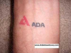 ADA diabetes tattoo