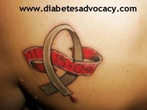 diabetes ribbon
