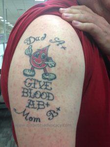 give blood tattoo